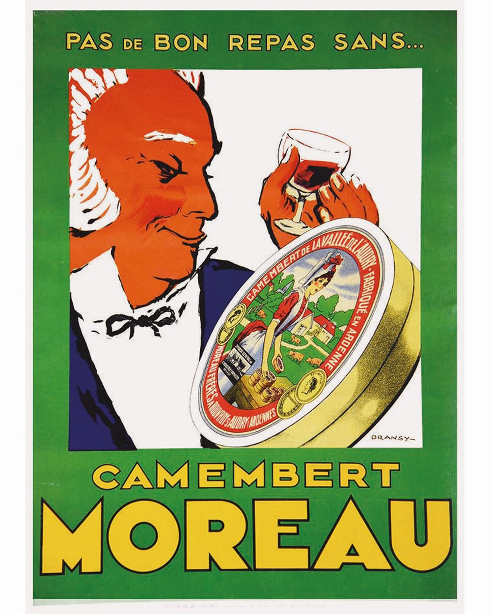 DRANSY - Camembert Moreau Fabriqué en Ardenne - Moreau Frères     vers 1930  Rouvroy-Sur-Audry (Ardennes)