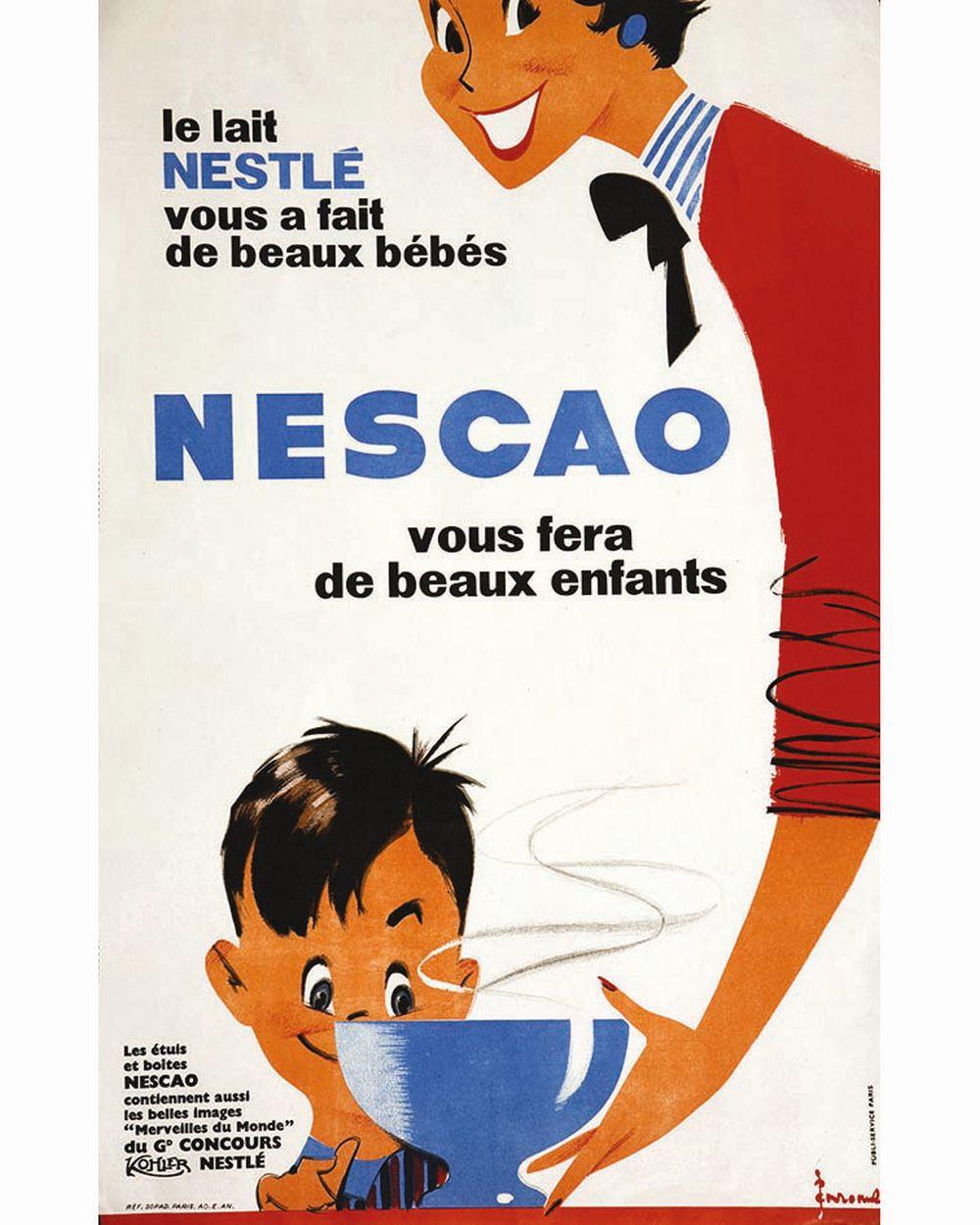 EMROME - Nescao Vous fera de Beaux enfants Le lait Nestlé vous a fait de Beaux Bébés     vers 1960