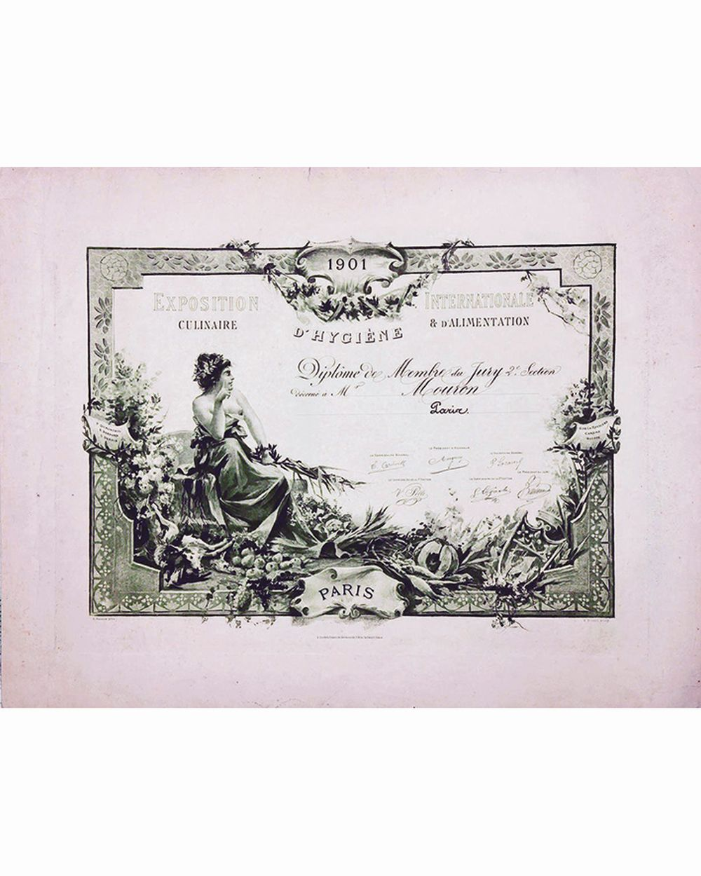 DUVOYE EMILE - Exposition Internationale Culinaire & Allimentation Hygiène     1901  Paris