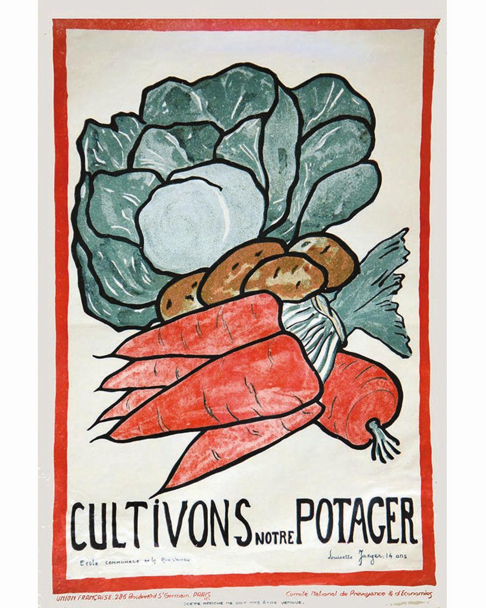 JAEGER LOUISETTE 14 ans - Cultivons notre potager Ecole communale. Ville de Paris17     1917