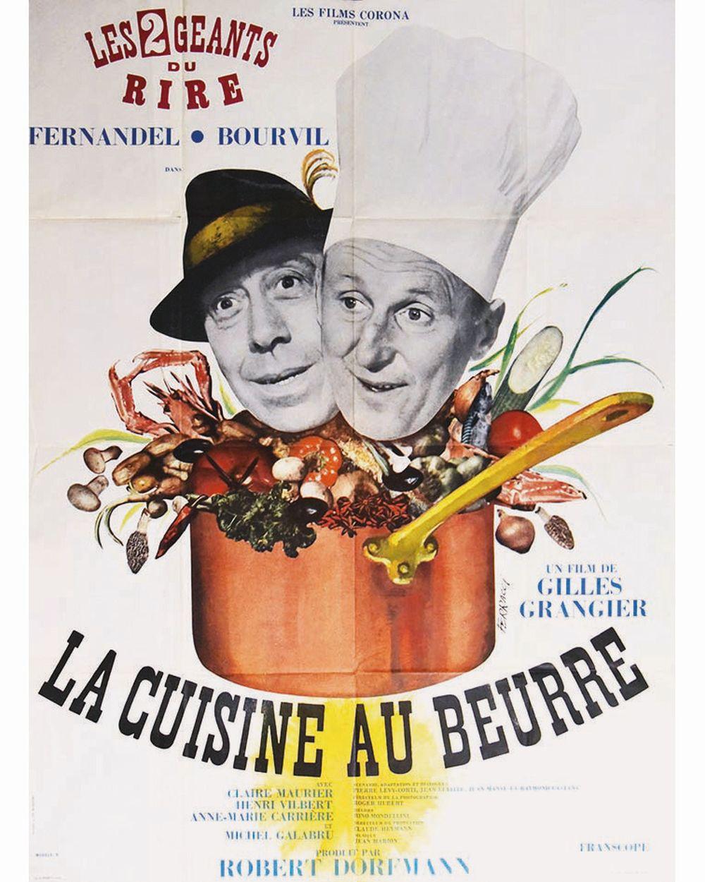 FERRACCI - La Cuisine au Beurre Bourvil Fernandel Model B     1963