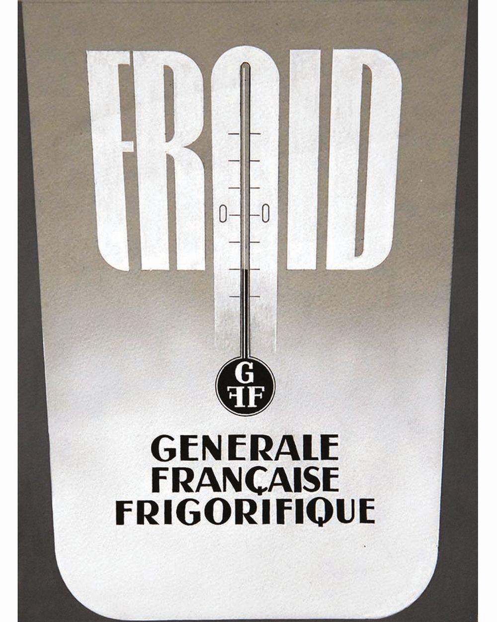 KOW ALEXIS  (non signée) - Générale Française Frigorifique Froid Gouache de Alexis Kow     vers 1950