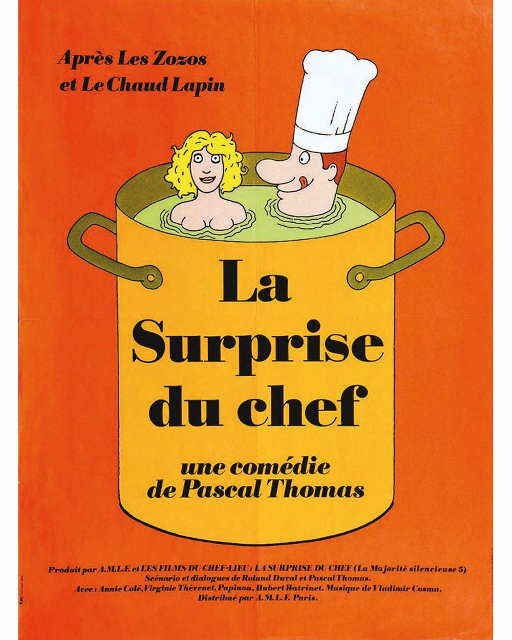 LABRET JEAN CLAUDE - La Surprise du Chef comedie de Pascal Thomas     vers 1970