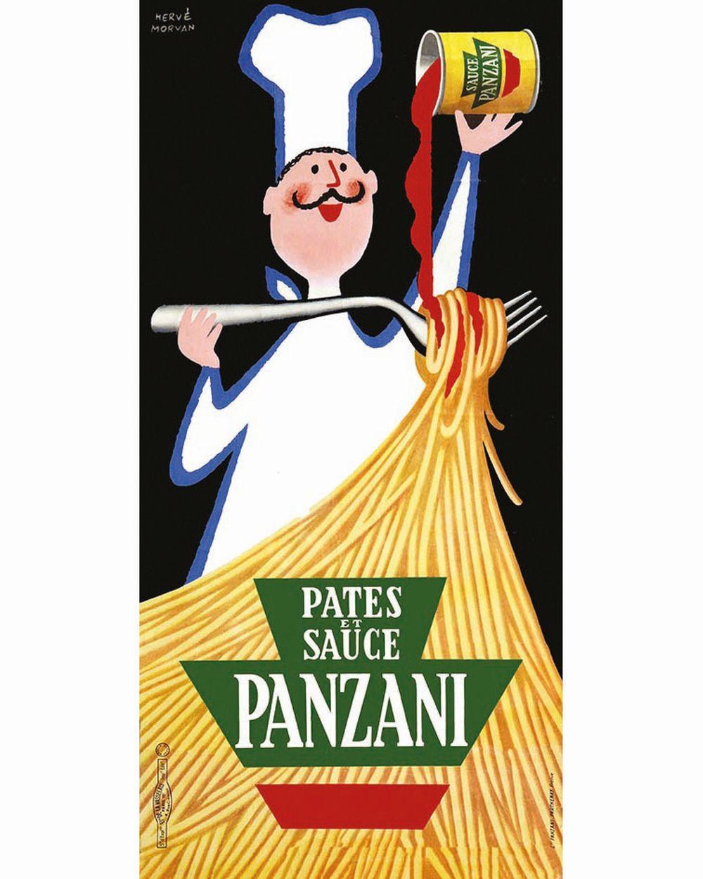 MORVAN HERVE - Panzani Pates et Sauce     vers 1950