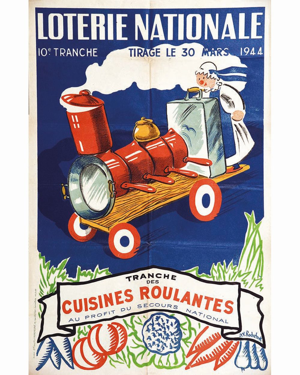ROCHEFORT J.Y. - Cuisines Roulantes Loterie Nationale     1944