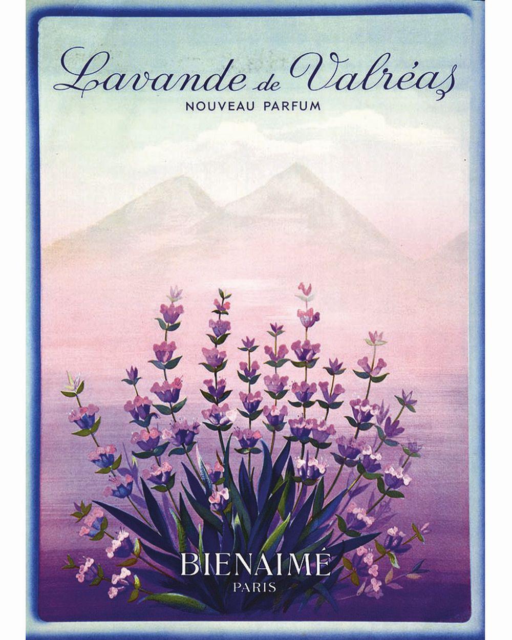 Lavande de Valréas Bien Aimé Parfum     vers 1950  Valréas (Vaucluse)