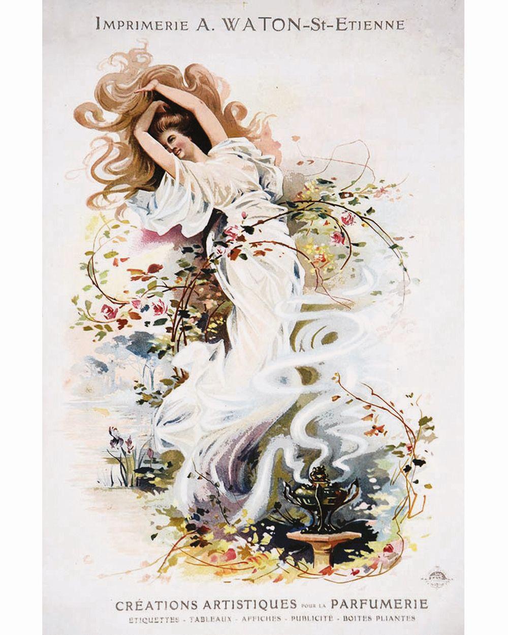 Imprimerie A. Waton Créations Artistiques pour la Parfumerie     vers 1900  Saint Etienne (Loire)