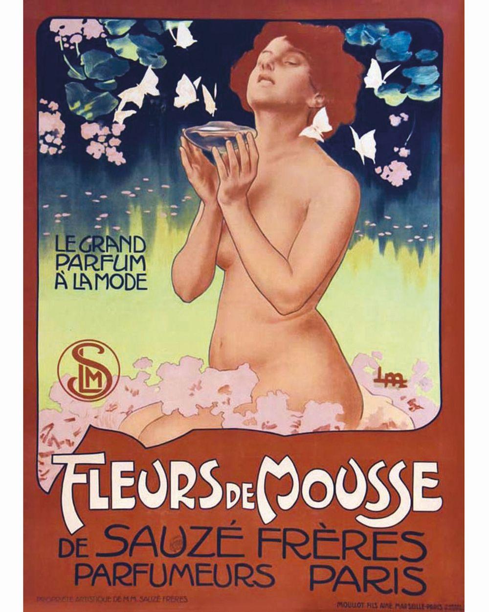 METLIKOVITZ LEOPOLDO - Fleurs de Mousse Sauzé Parfumeurs     vers 1900