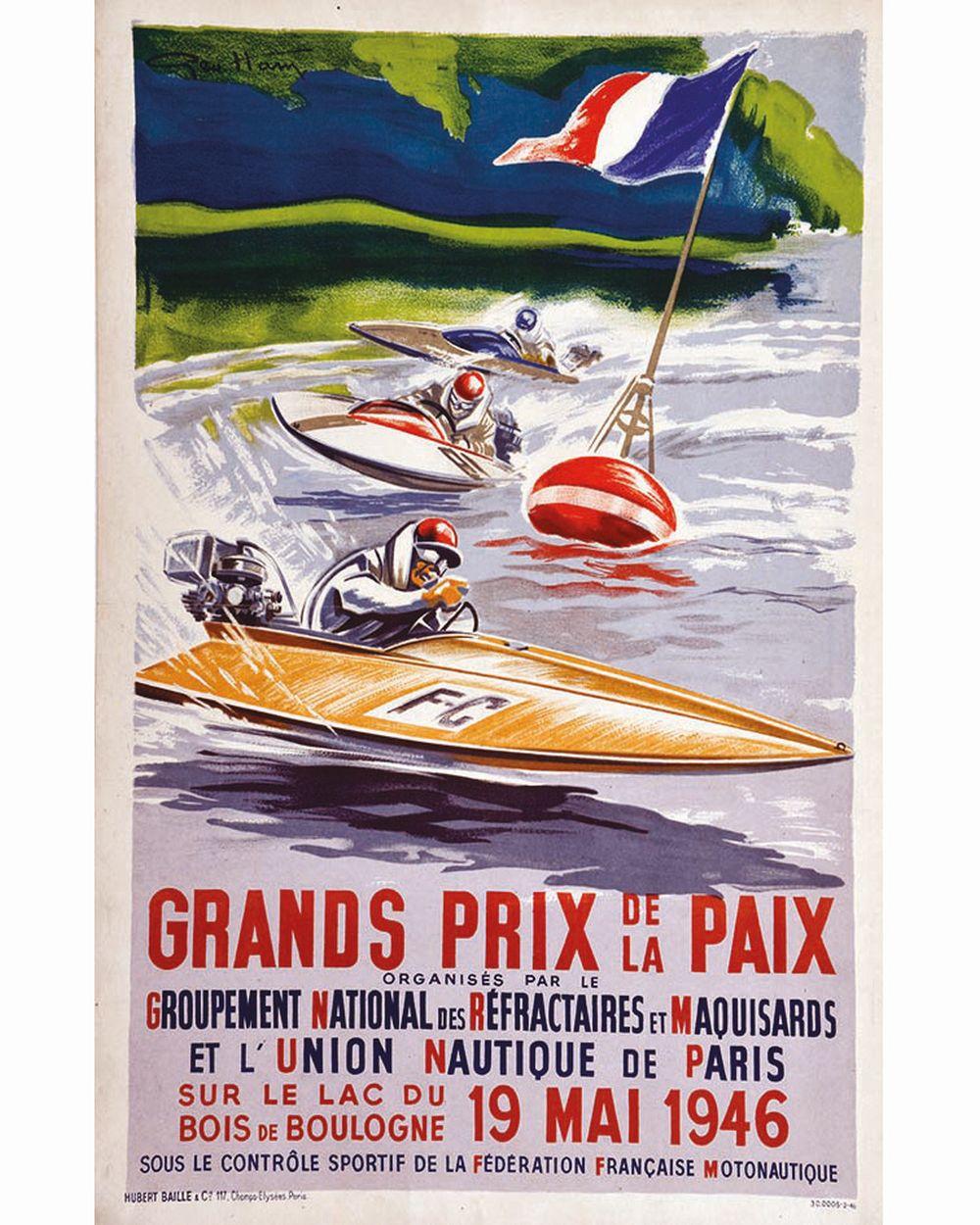 HAM GEO - Grand Prix de la Paix sur le Lac du Bois de Boulogne     1946  Bois de Boulogne ( Paris )