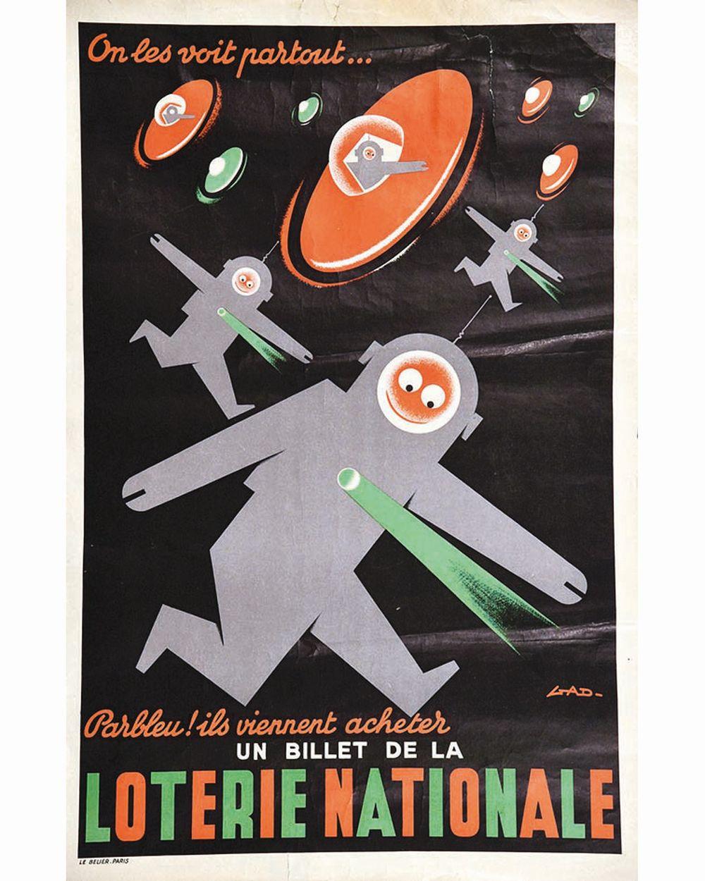 GAD - On les Voit partout Parbleu ! Ils viennent acheter un billet de la Loterie Nationale     vers 1950