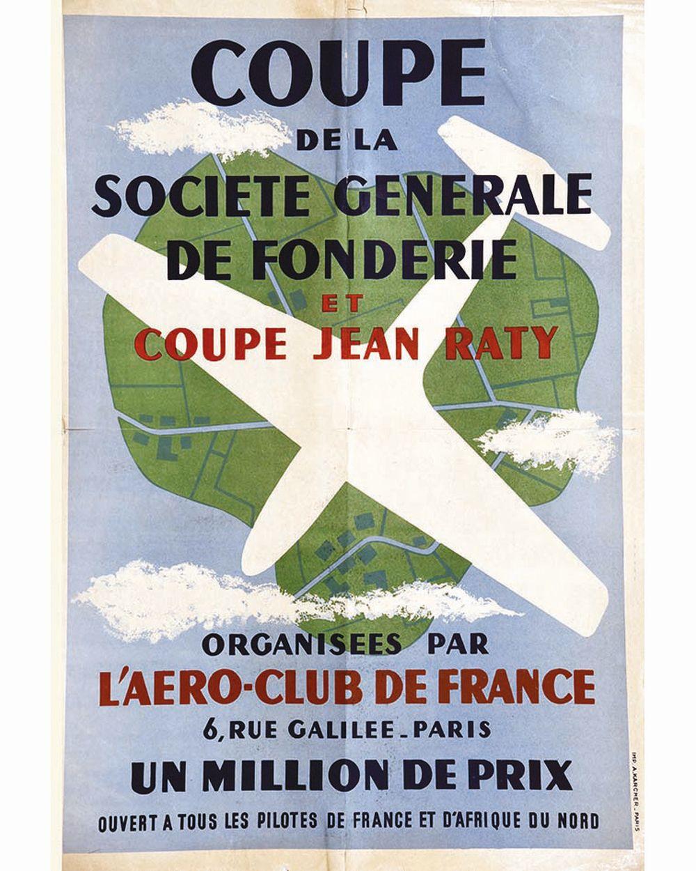Aéro-Club de France Coupe de la Société Générale de Fonderie et Coupe Jean Raty     vers 1950