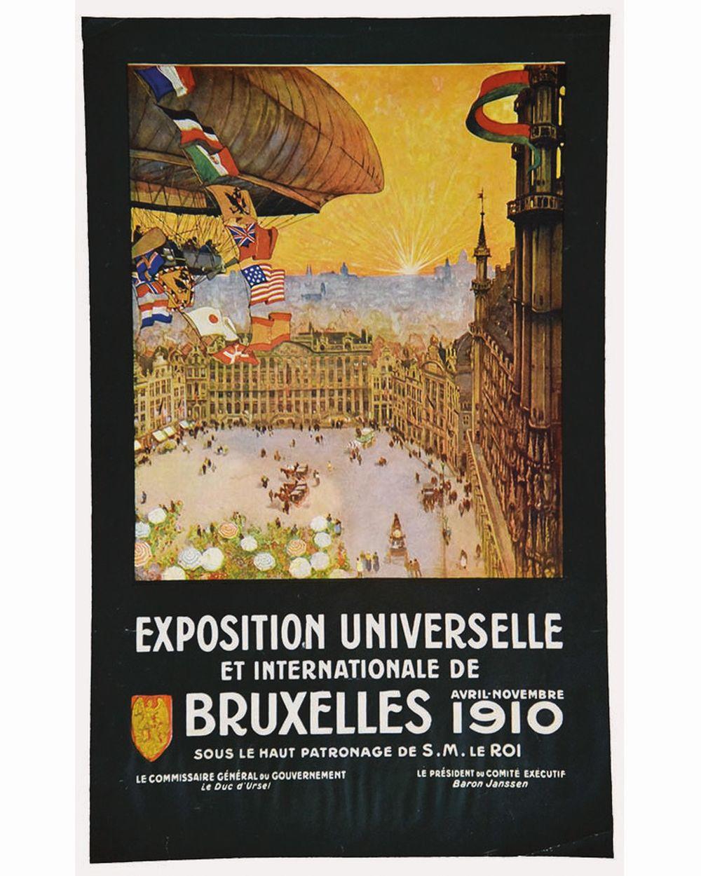 CASSIERS - Exposition Universelle et Internationale de Bruxelles - 1910 (Zeppelin)     1910