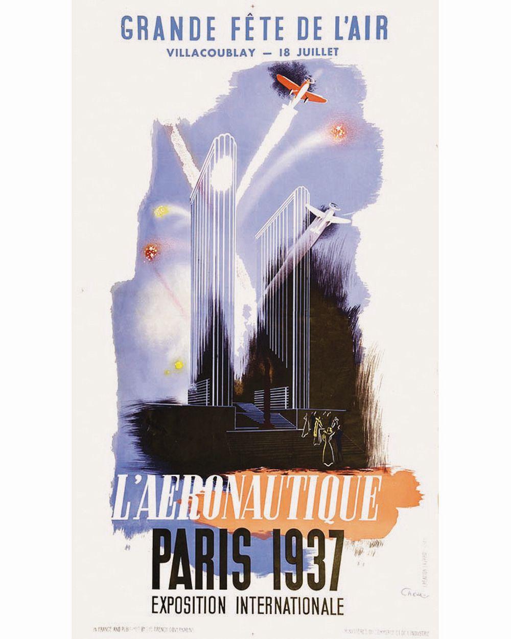 CHEM - L'Aeronautique Grande Fête de L'Air  Exposition Internationale Paris     1937