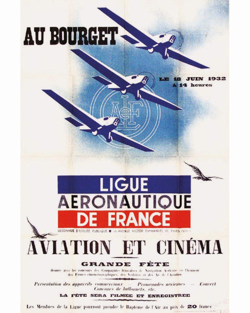 RAVO RENE - Ligue Aéronautique de France - Au Bourget - 1932     1932