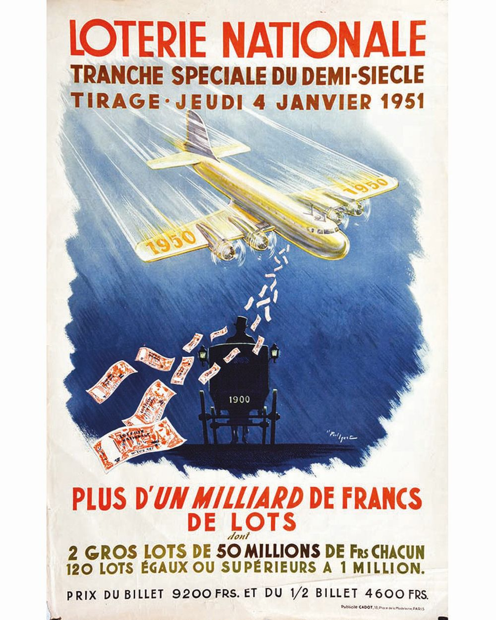 IGERT PAUL - Tranche Spéciale du Demi Siècle Loterie Nationale     1951
