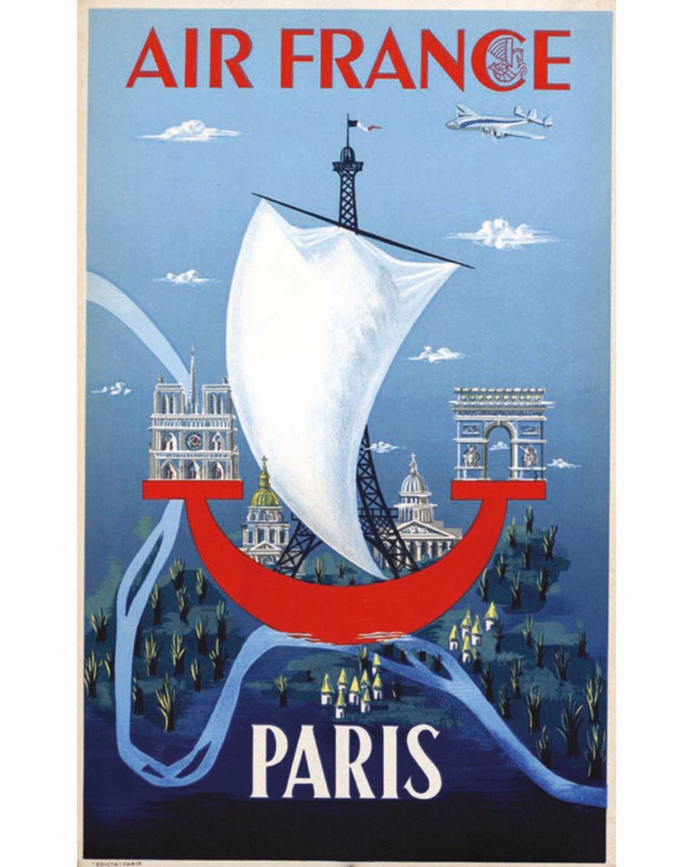 Paris Air France Rare     vers 1950