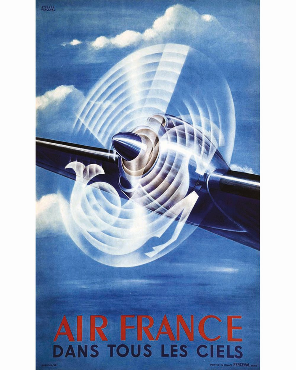 ATELIER PERCEVAL - Dans Tous les Ciels Air France     1949