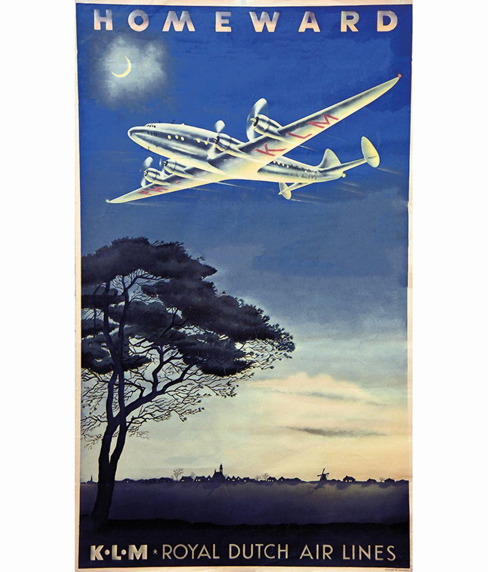 Homeward KLM Royal Dutch Airlines     vers 1950
