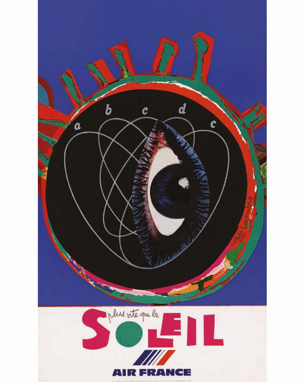 BEZOMBES ROGER - Plus vite que le Soleil Air France -Très rare avec l'Oeil qui s'ouvre sur un BB / Very Rare Eye Open     1981