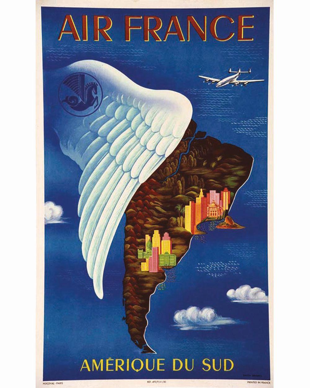 BOUCHER LUCIEN - Rio - Buenos Aires Amérique du Sud - Air France     1950
