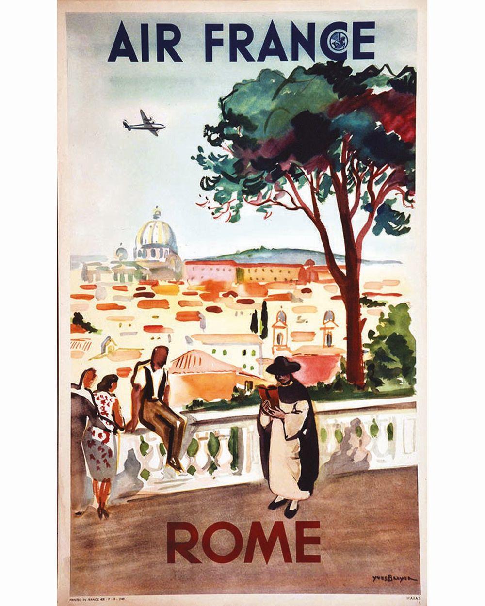 BRAYER YVES - Rome Air France     1949