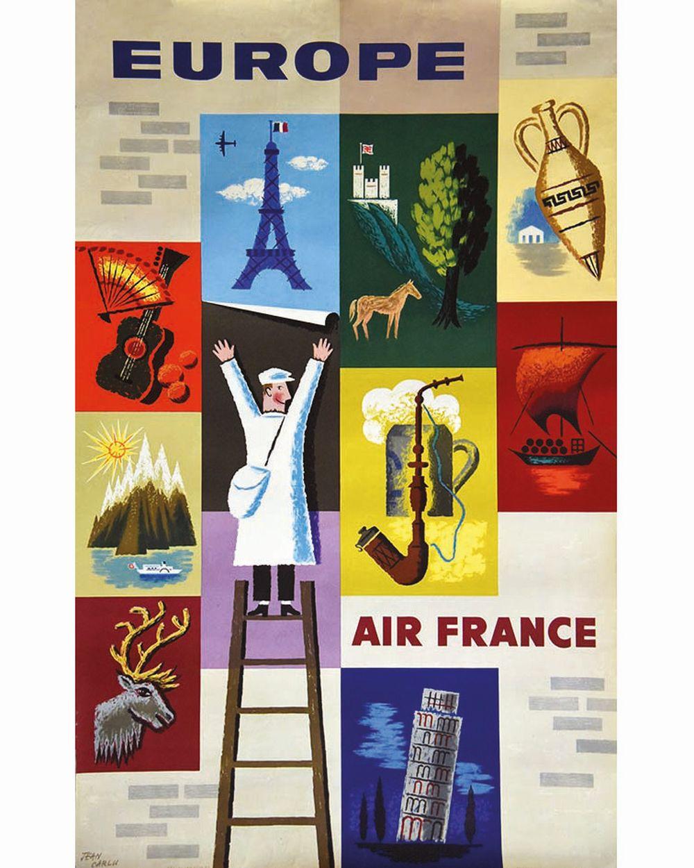 CARLU JEAN - Air France Europe     1957