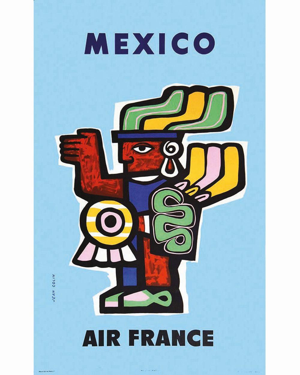 COLIN JEAN - Mexico Air France     1957