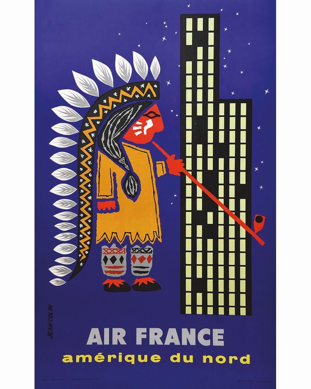 COLIN JEAN - Amérique du Nord Air France     1956