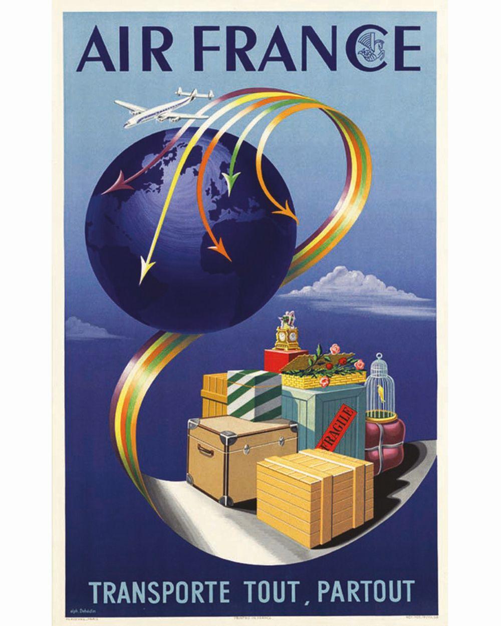 DEHEDIN ALPH. - Air France Transporte tout partout     1952