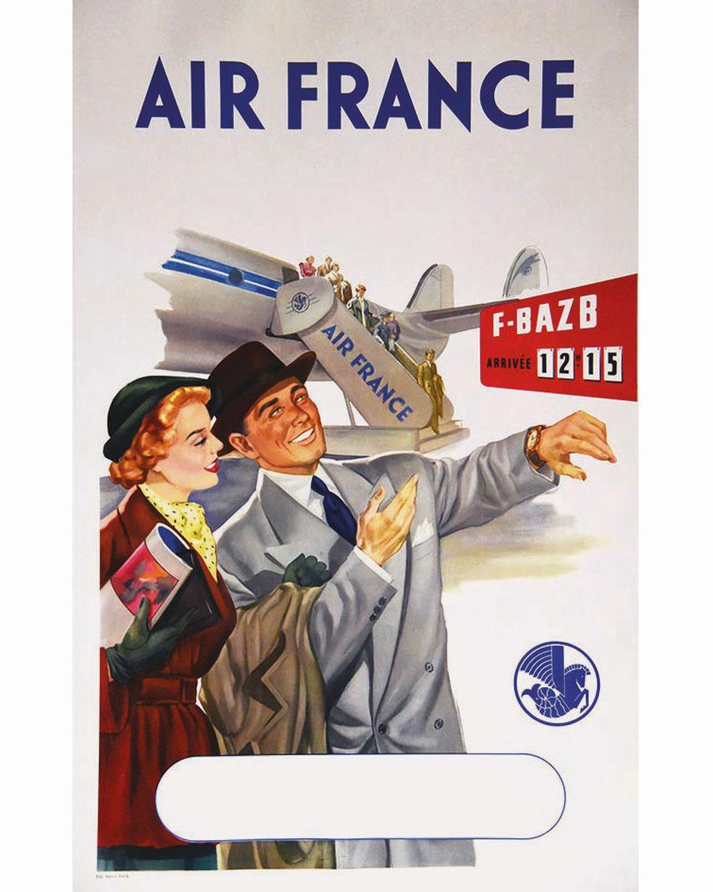 EILFA MARCO - Air France F BazrB 12: 15 ( Couple )     vers 1950