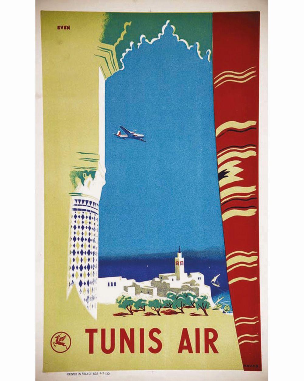 EVEN - Tunis Air Air France     1951