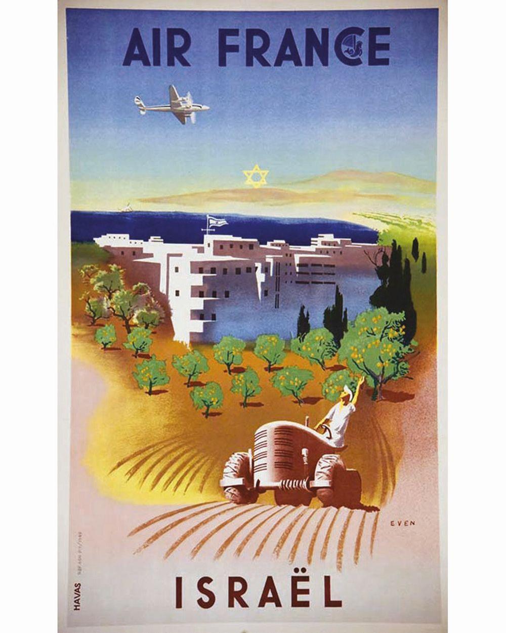 EVEN - Israël Air France     1949