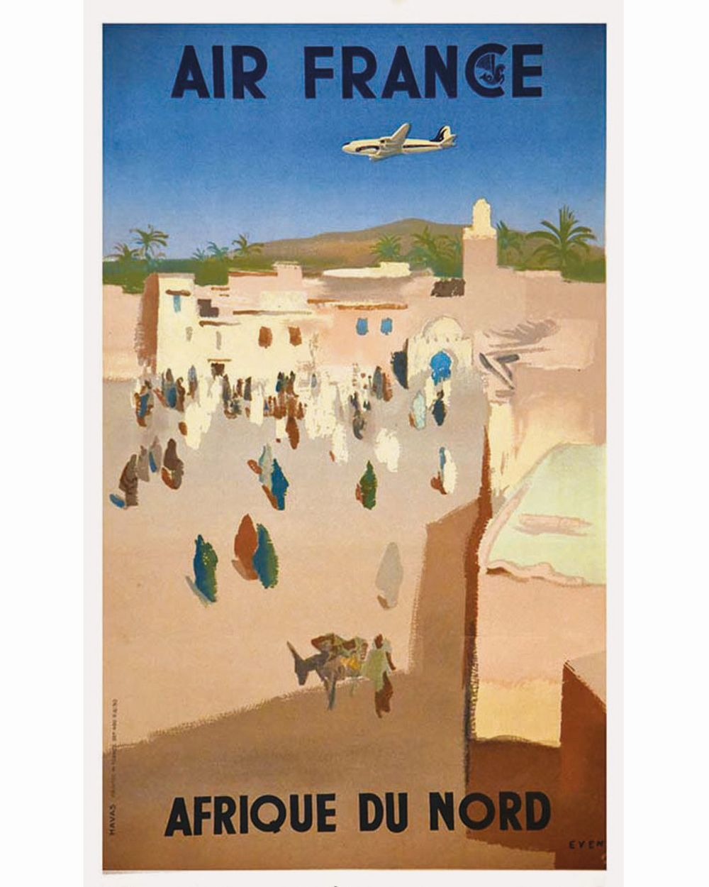 EVEN - Afrique du Nord Air France     1950