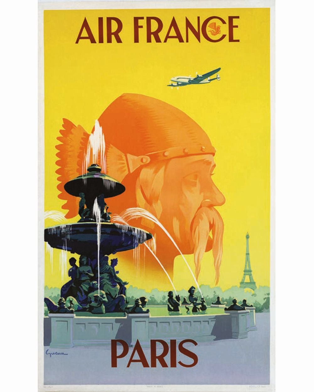 GUERRA - Paris Air France     1951