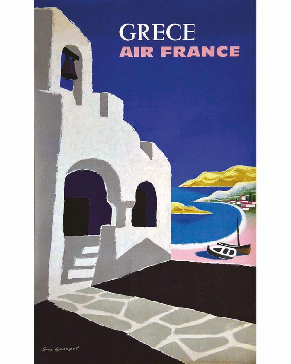 GEORGET GUY - Grece Air France     1960