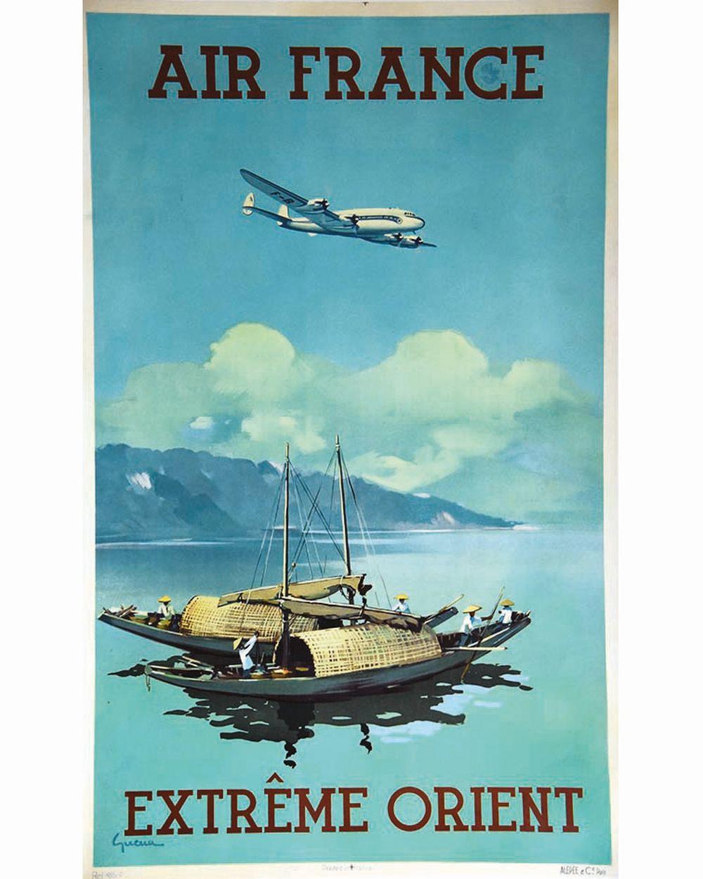 GUERRA - Extrème Orient Orient Air France     vers 1948
