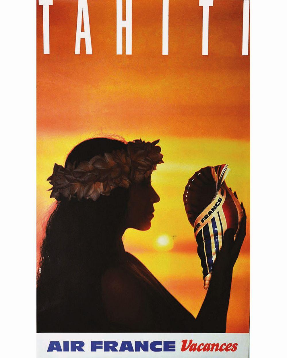HCM - Tahiti Air France     vers 1980