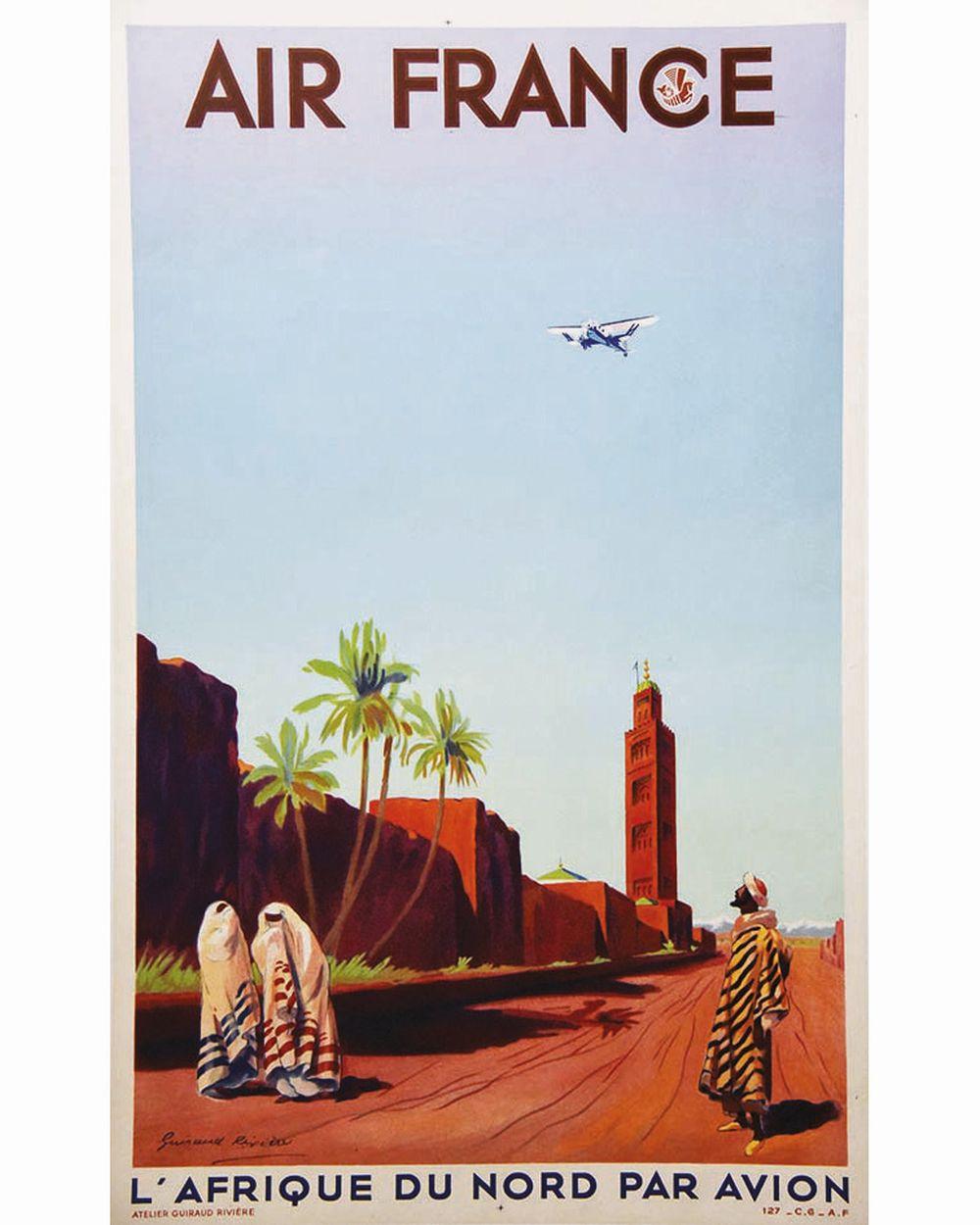 GUIRAUD RIVIERE - Marrakech L'Afrique du Nord Par Avion Air France     vers 1930