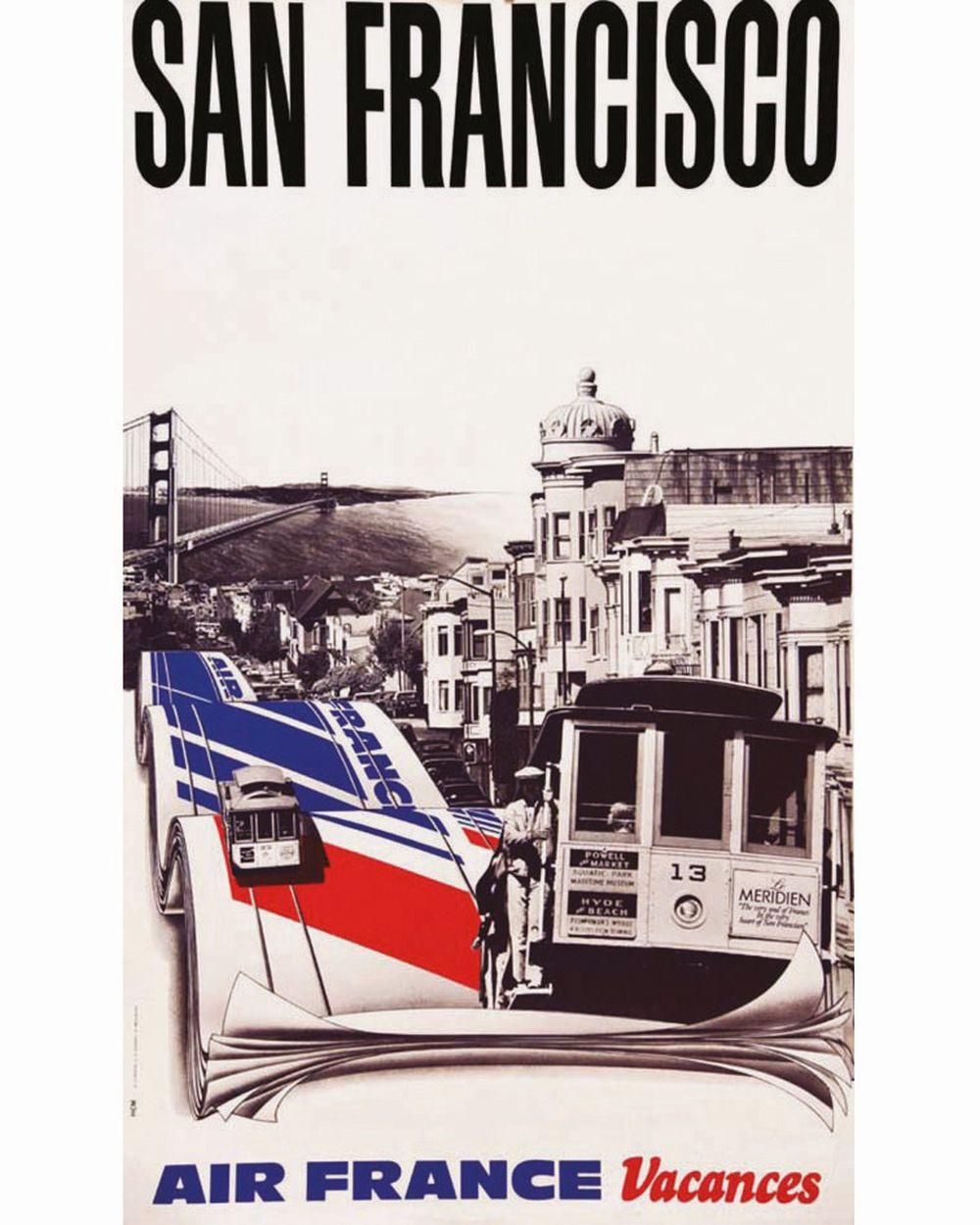 HCM - San Francisco - Air France     Vers 1980