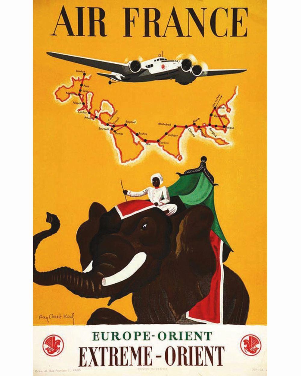KOCH R.B. - Extrème Orient Europe Orient Air France Très Rare     vers 1930