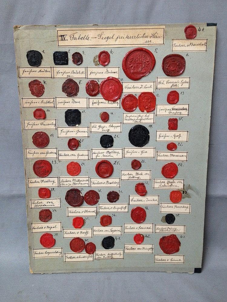 planche de 43 sceaux 224 la cire de de maisons baron