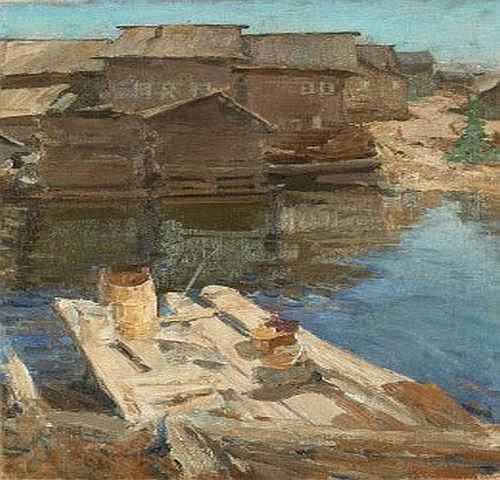 Abram Efimovich Arkhipov 1862-1930. Vy från