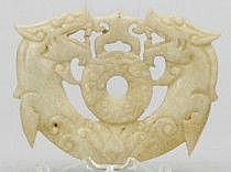 Platta Dekorelement Jade Kina Genombruten dekor av