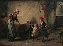 Alexander Rosell England 1859-1922. Interiör med