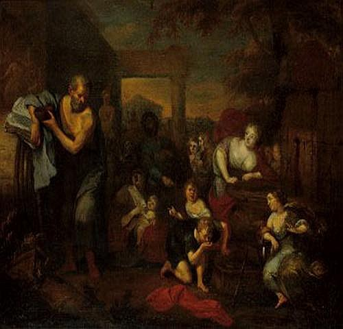 Richard Brakenburgh Holland 1650-1702. Diogenes
