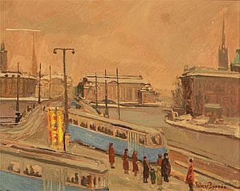 Folmer Bonnén 1885-1960. Signerad. Stockholmsmotiv