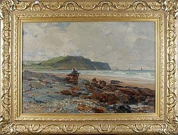 John McWhirter England 1839-1911. Kustlandskap.