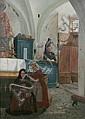 Anders Montan 1845-1917. Kyrkointeriör med, Anders Montan, Click for value