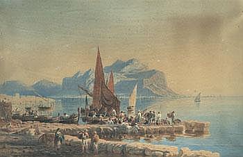 Axel Herman Hägg 1835-1921. Italienskt hamnmotiv