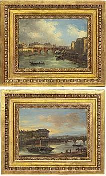 Giuseppe Canella I Italien 1788-1847. Paris broar